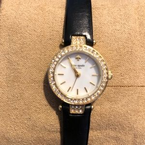Kate Spade Black and gold tone watch